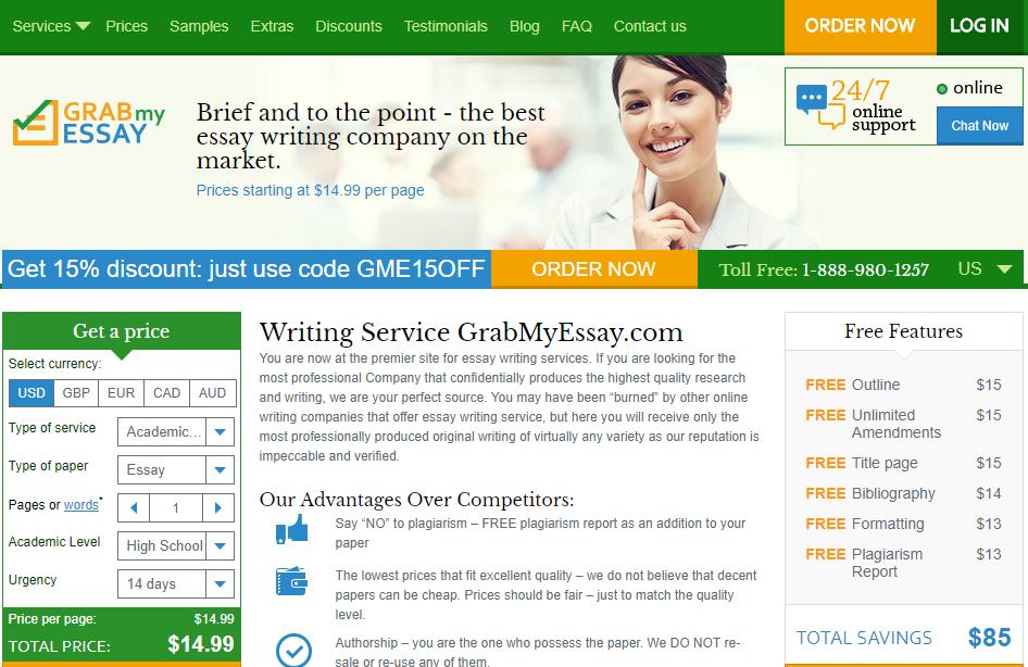 www.grabmyessay.com homepage