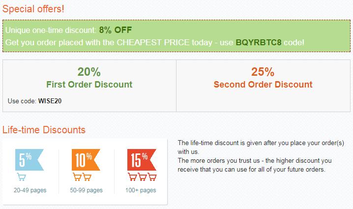 www.wiseessays.com discounts